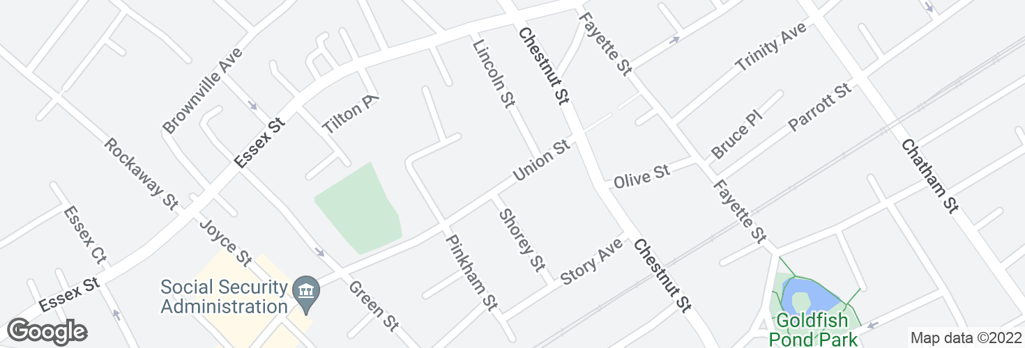 Map of Union St @ Lincoln St and surrounding area