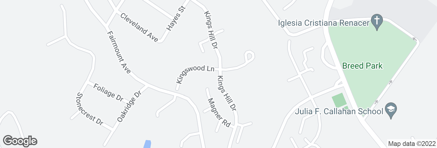 Map of Kings Hill Dr @ Kingswood Ln and surrounding area