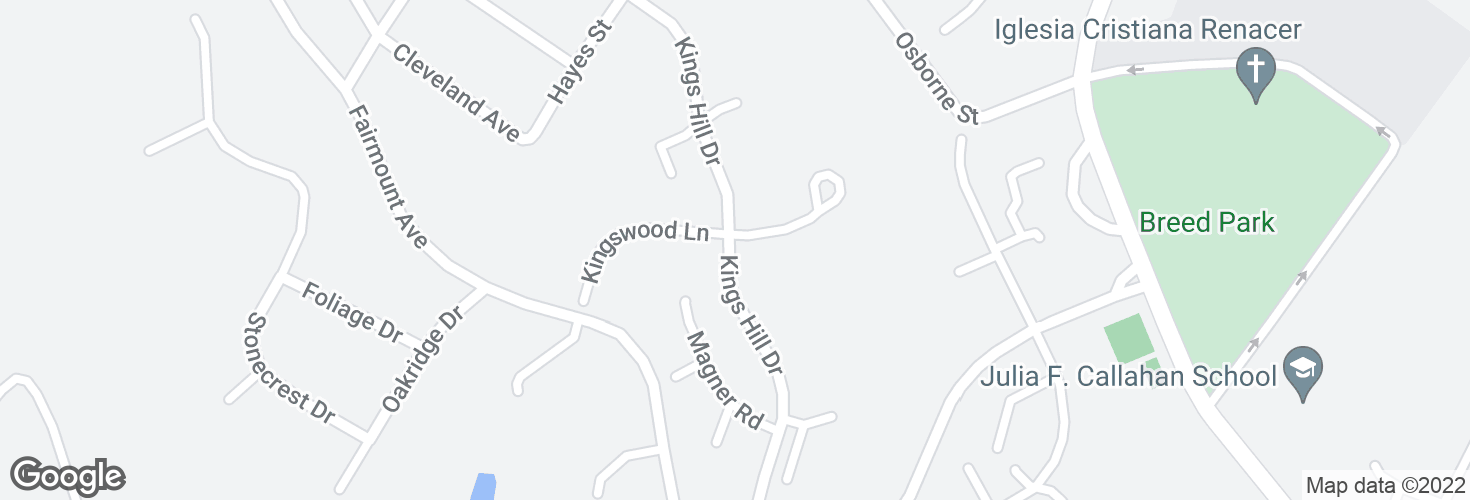 Map of Kings Hill Dr @ Kingswood Circle and surrounding area