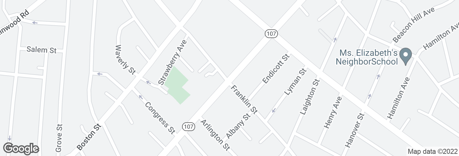 Map of Western Ave @ Franklin St and surrounding area