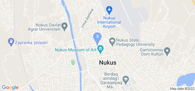 Расположение гостиницы Массагет на карте