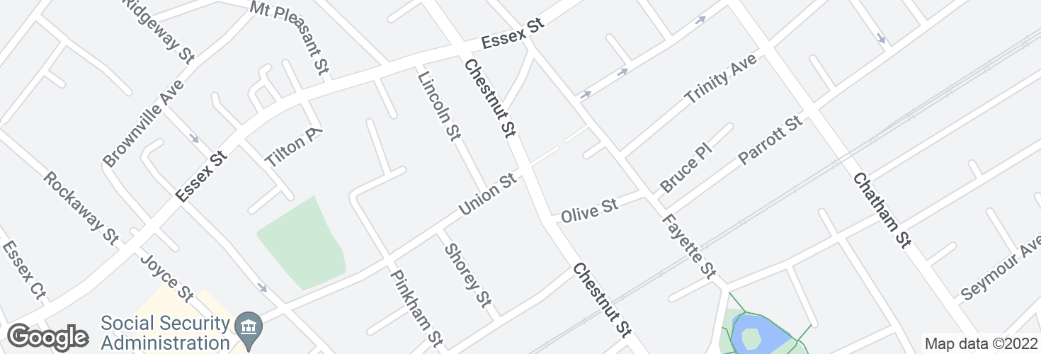 Map of Union St @ Chestnut St and surrounding area
