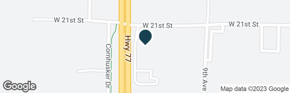 Google Map of1030 W 21ST ST
