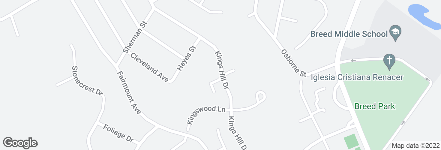 Map of Garfield Ave @ Castle Rising Ct and surrounding area