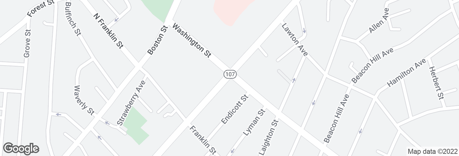 Map of Western Ave @ Washington St and surrounding area