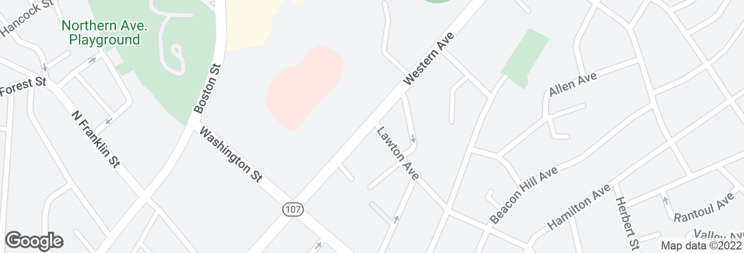 Map of Western Ave @ Lawton Ave and surrounding area