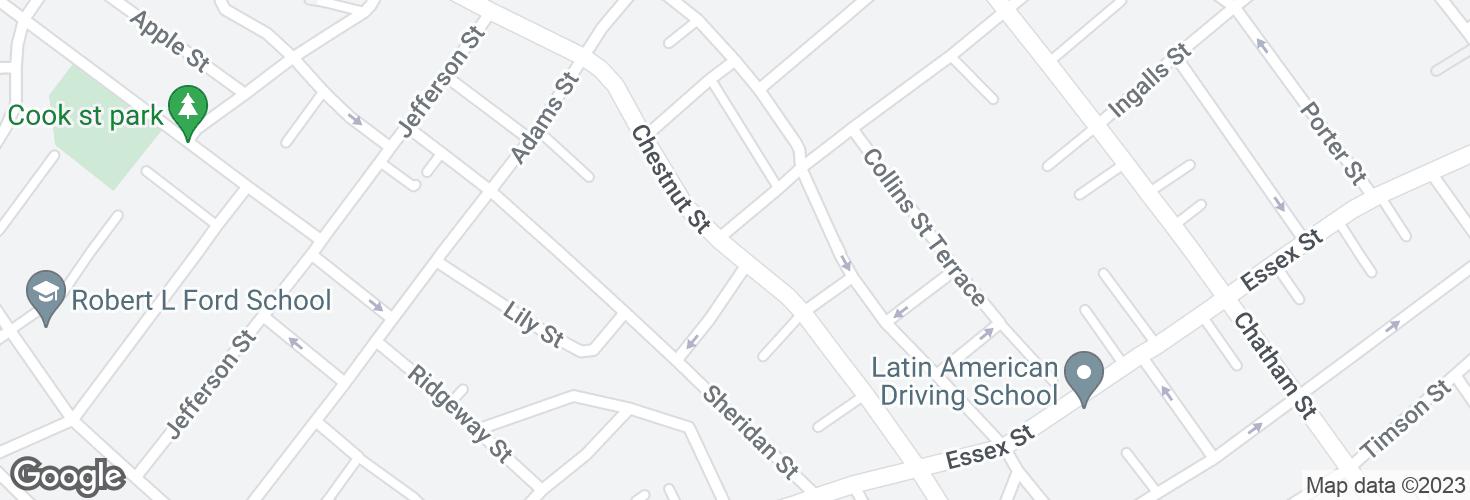 Map of Chestnut St opp Chestnut Ave and surrounding area