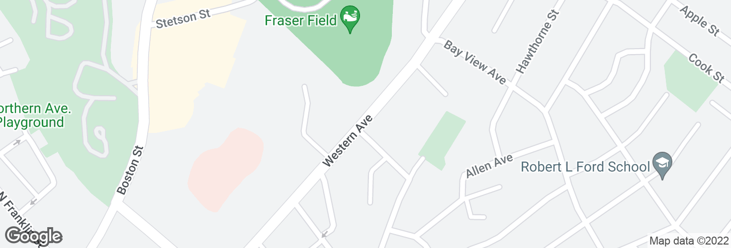 Map of Western Ave @ Nichols Ave and surrounding area