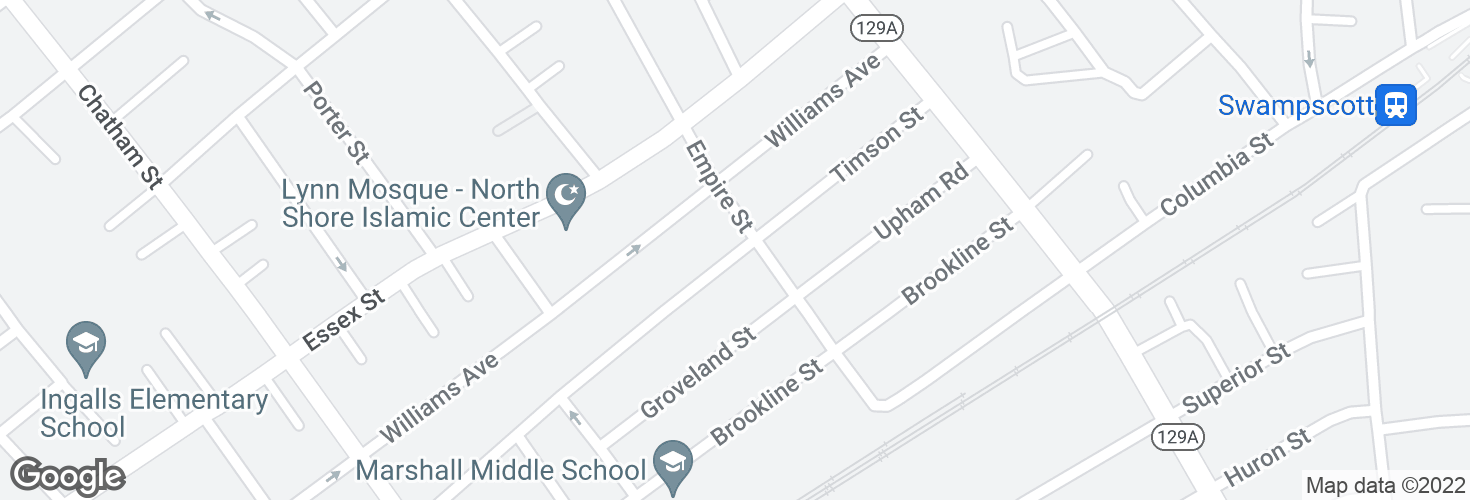 Map of Timson St @ Empire St and surrounding area