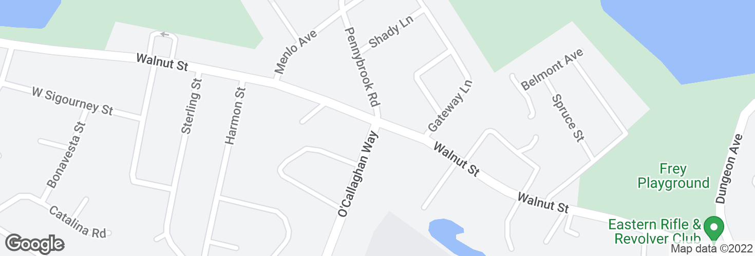 Map of O'Callaghan Way @ Walnut St and surrounding area