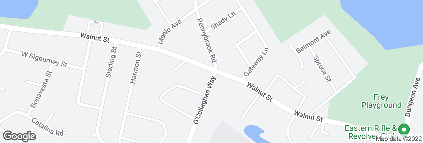 Map of Walnut St @ O'Callaghan Way and surrounding area