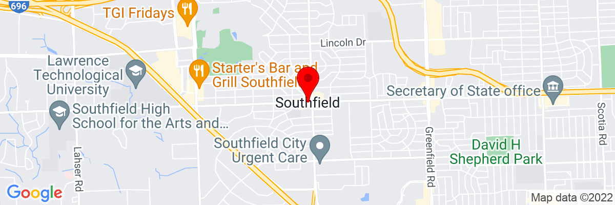 Google Map of 42.473368888889,-83.221873055556