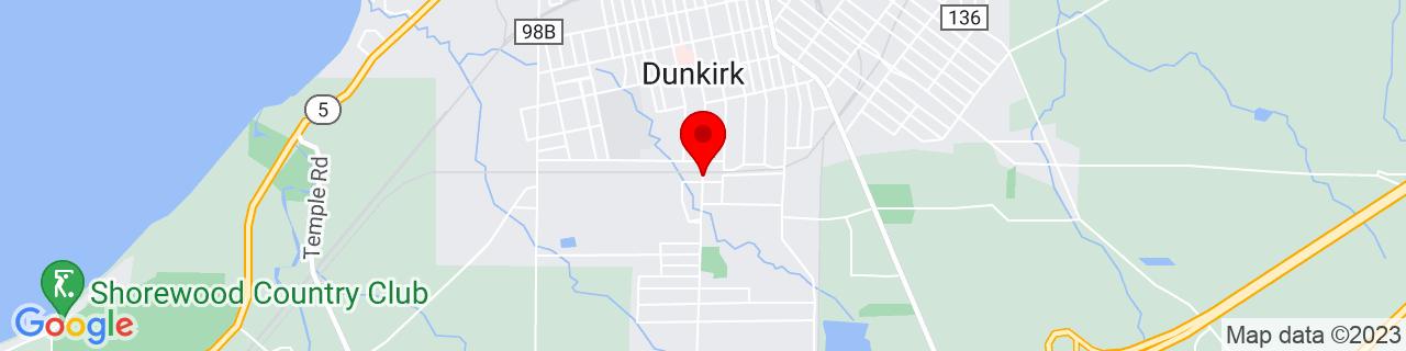 Google Map of 42.4735707, -79.33314469999999