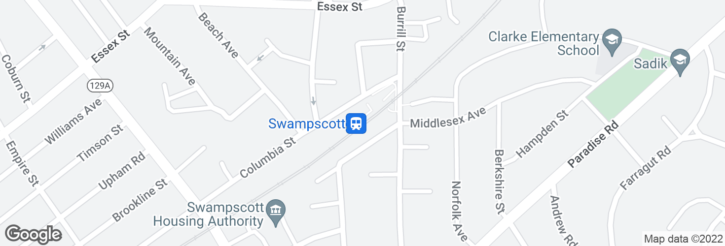 Map of Swampscott and surrounding area
