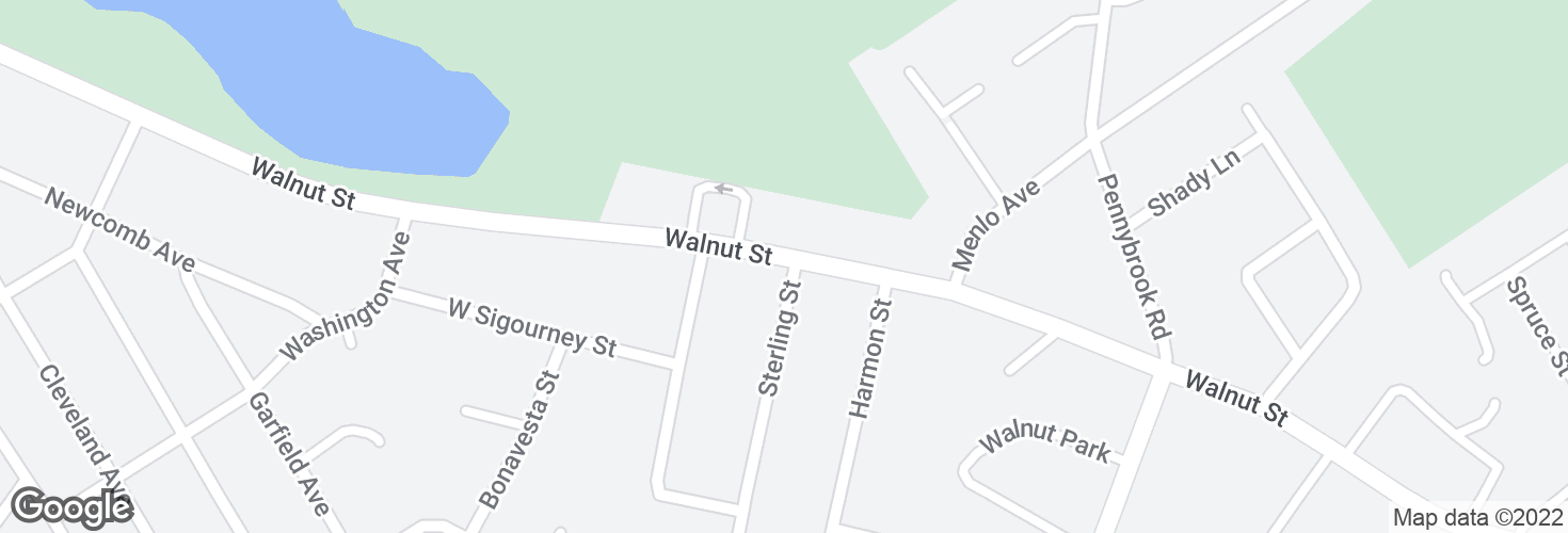 Map of Walnut St @ Sterling St and surrounding area