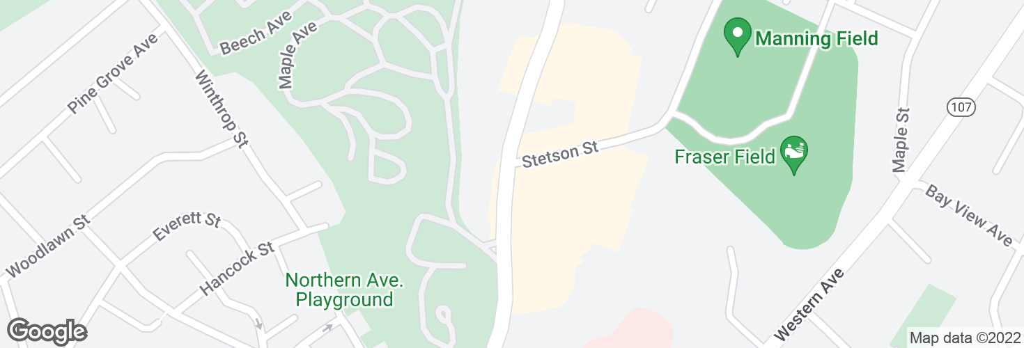 Map of Boston St @ Stetson St and surrounding area