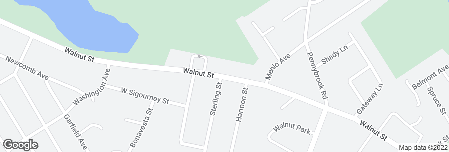 Map of Walnut St opp Sterling St and surrounding area