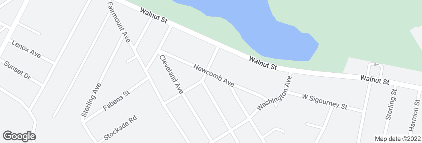 Map of Newcomb Ave @ Jefferson Ave and surrounding area