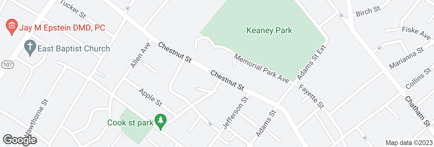 Map of Chestnut St opp Eade St and surrounding area