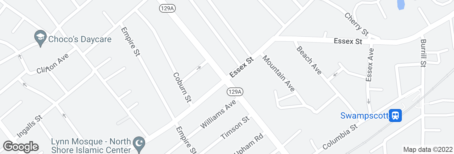 Map of Essex St @ Eastern Ave and surrounding area