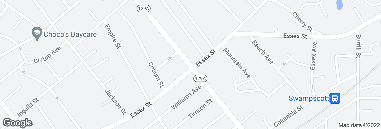 Map of Eastern Ave @ Essex St and surrounding area