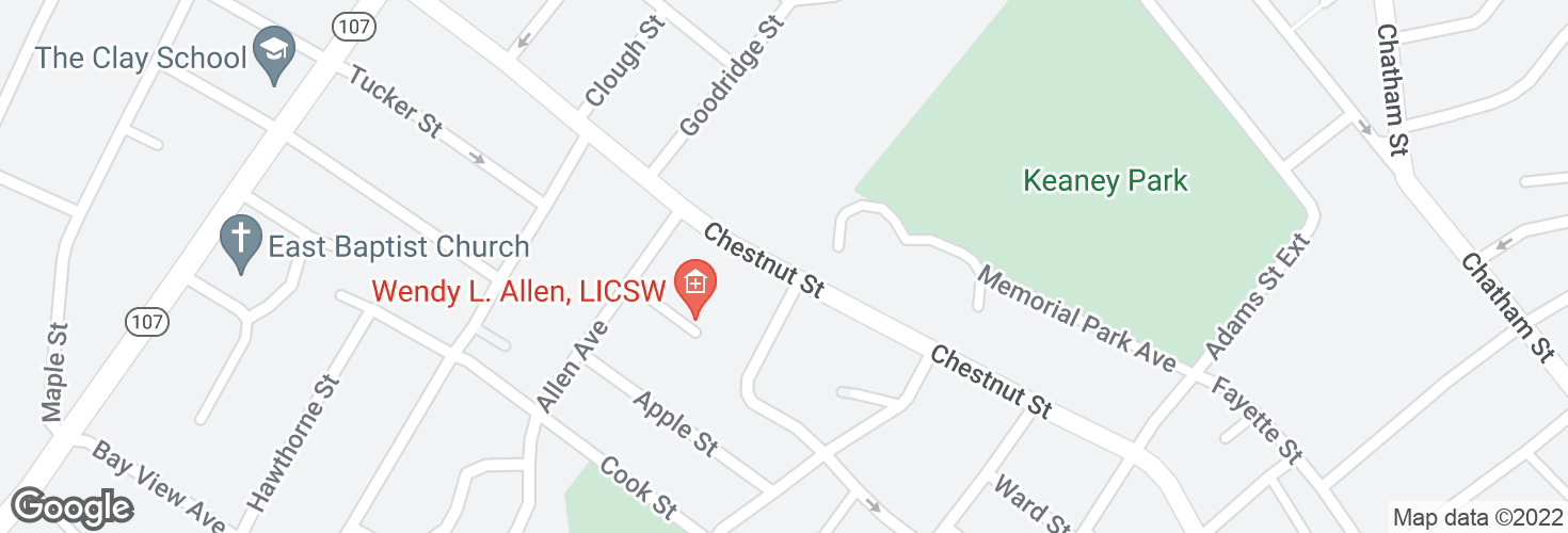 Map of Chestnut St opp Peach St and surrounding area