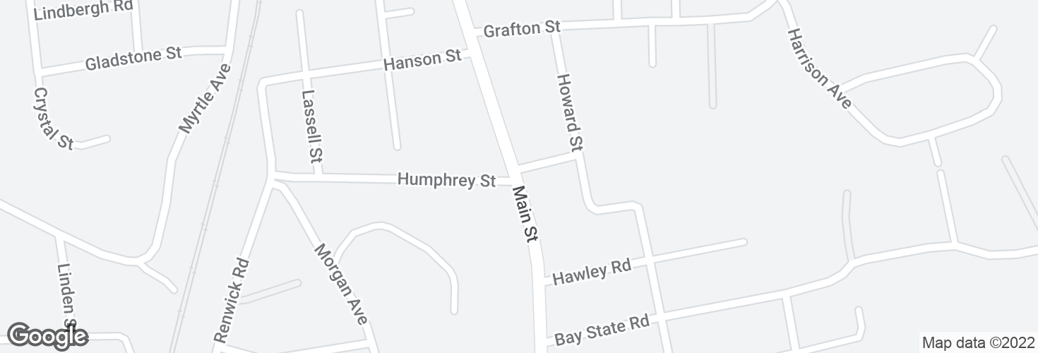 Map of Main St @ Flint St and surrounding area
