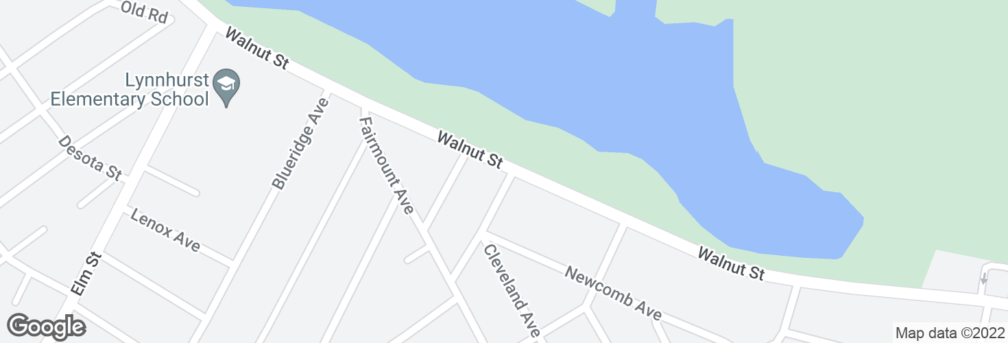 Map of Walnut St @ Edison St and surrounding area