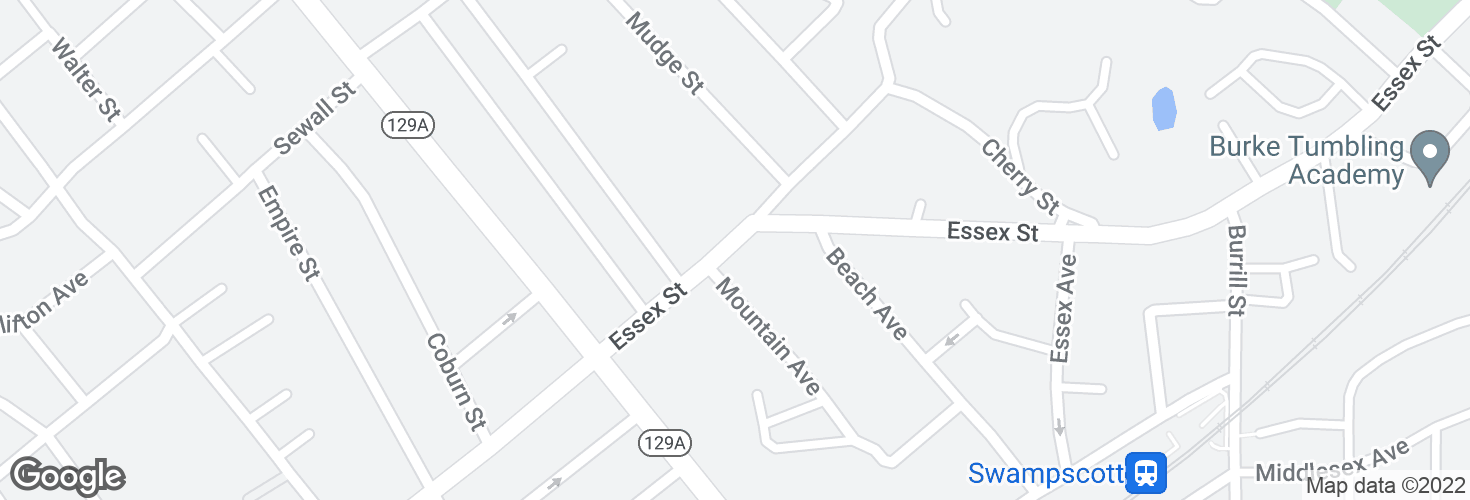 Map of 12 Essex St and surrounding area