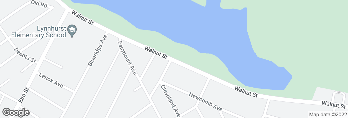 Map of Walnut St opp Edison St and surrounding area