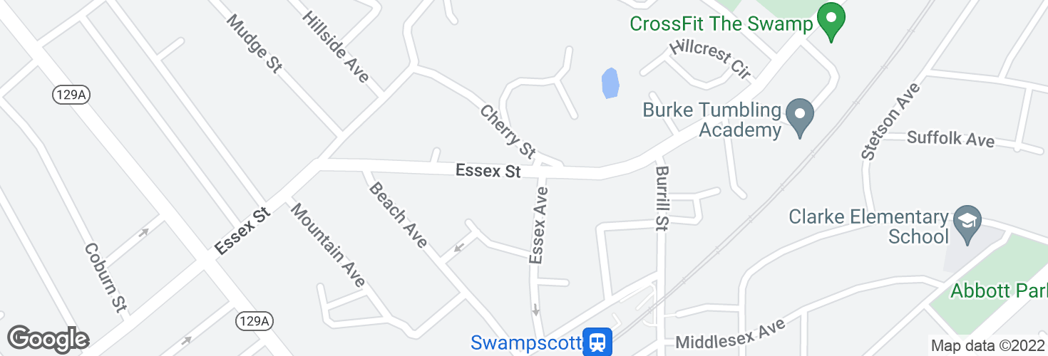 Map of Essex St @ Essex Ave and surrounding area