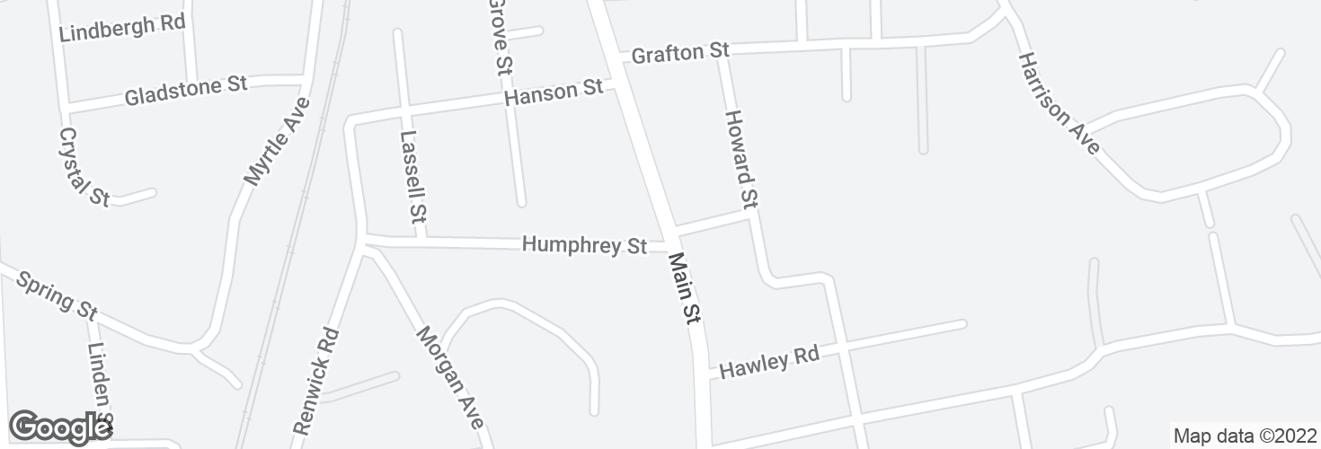 Map of Main St @ Humphrey St and surrounding area