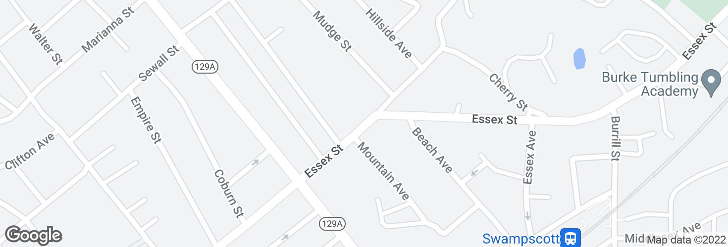 Map of 13 Essex St and surrounding area