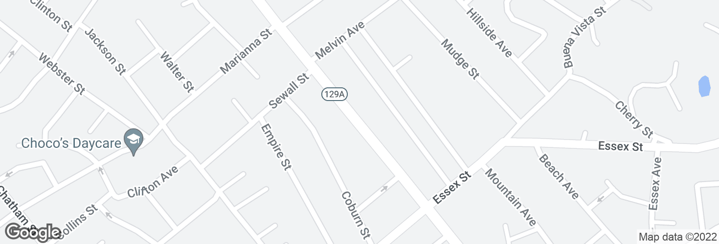 Map of 301 Eastern Ave and surrounding area
