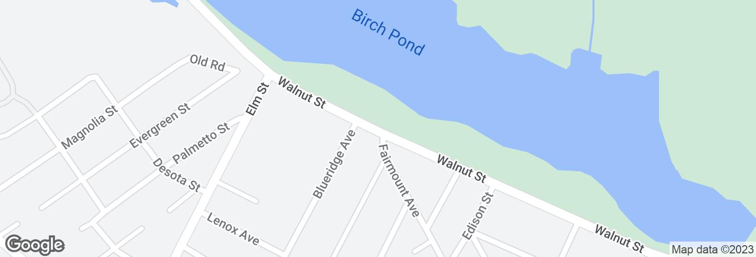 Map of Walnut St opp Fairmount Ave and surrounding area