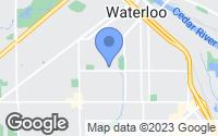 Map of Waterloo, IA