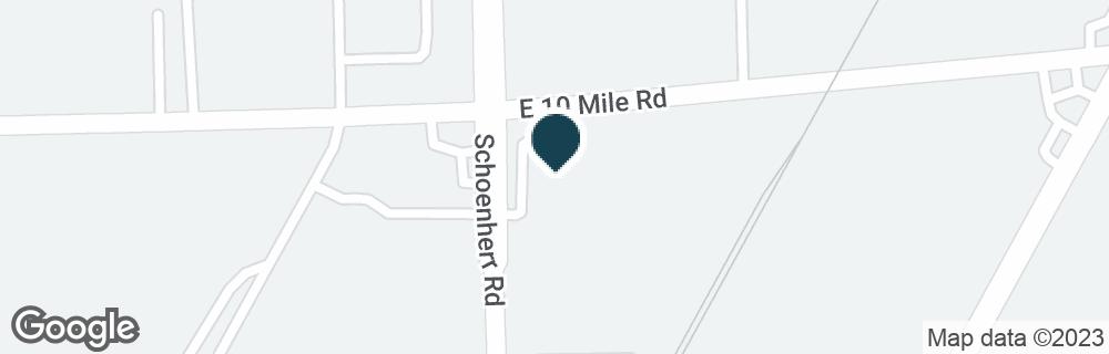 Google Map of24900 SCHOENHERR RD