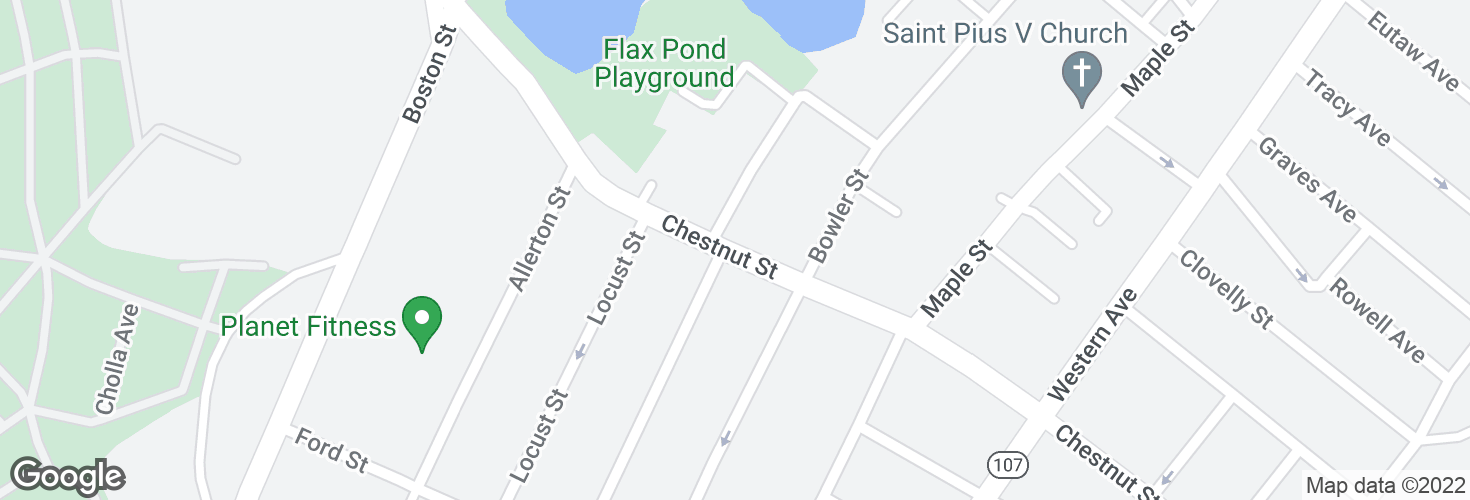 Map of Chestnut St opp Rand St and surrounding area