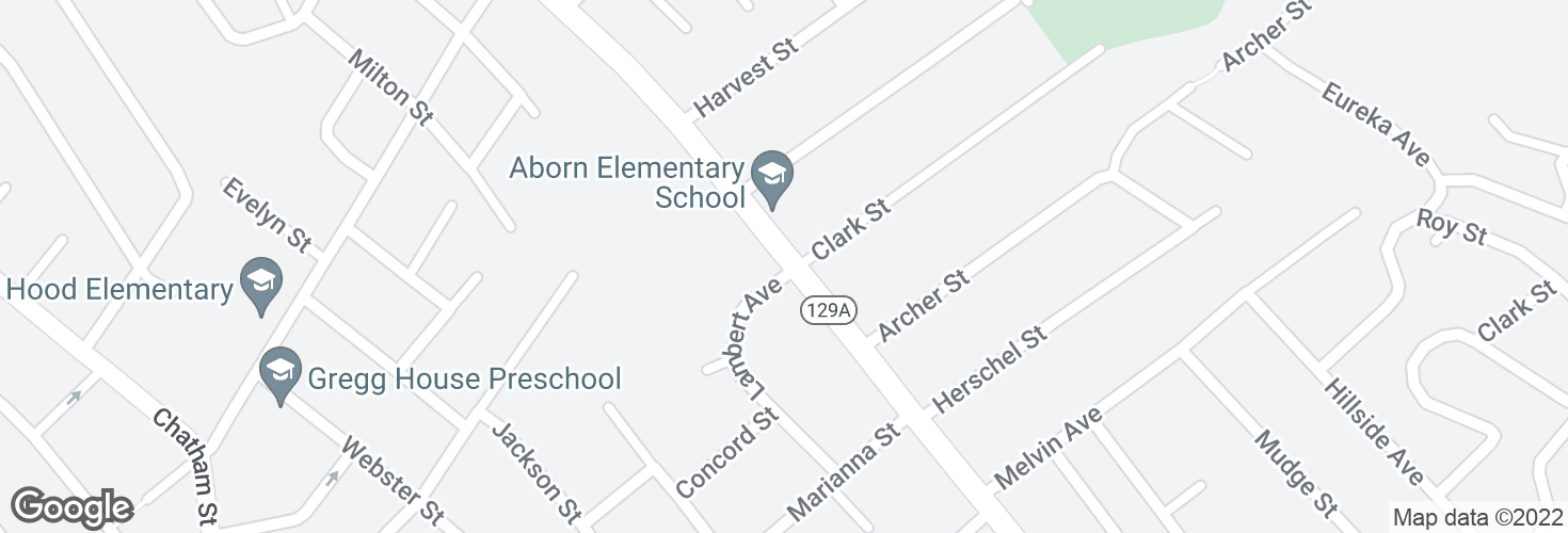 Map of Eastern Ave @ Lambert Ave and surrounding area