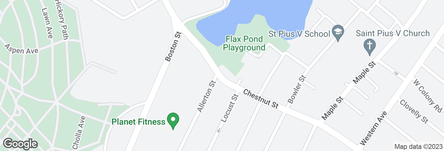 Map of Chestnut St opp Allerton St and surrounding area