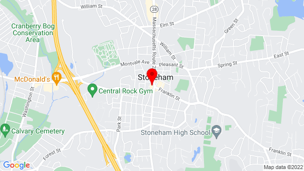 Google Map of 395 Main Street, Stoneham, MA 02180