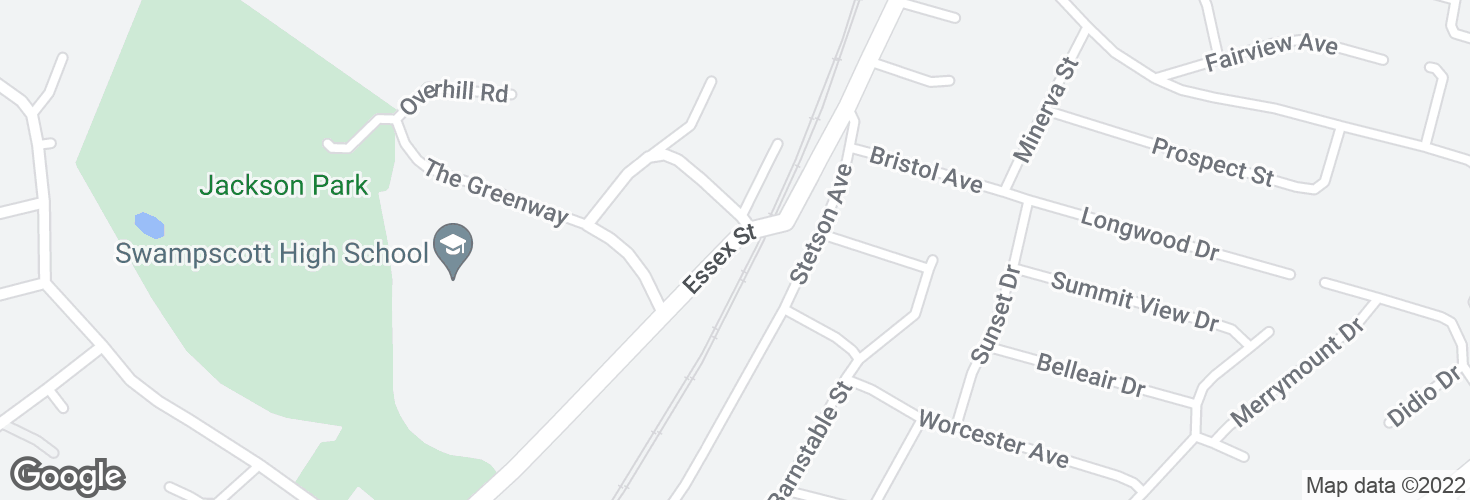 Map of 253 Essex St and surrounding area