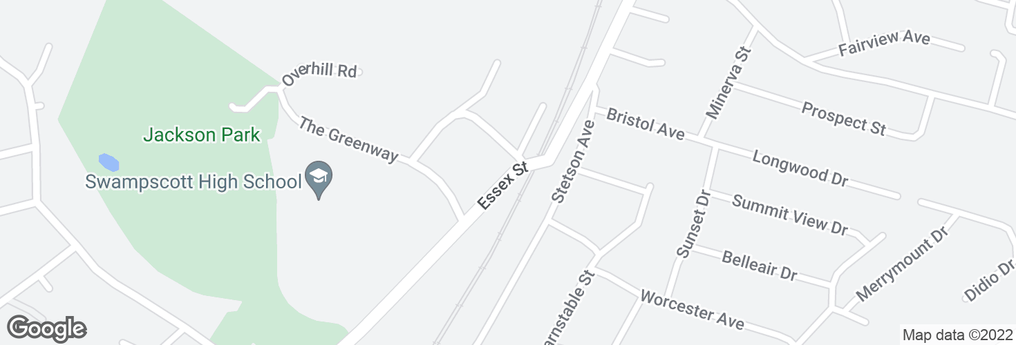 Map of 262 Essex St and surrounding area
