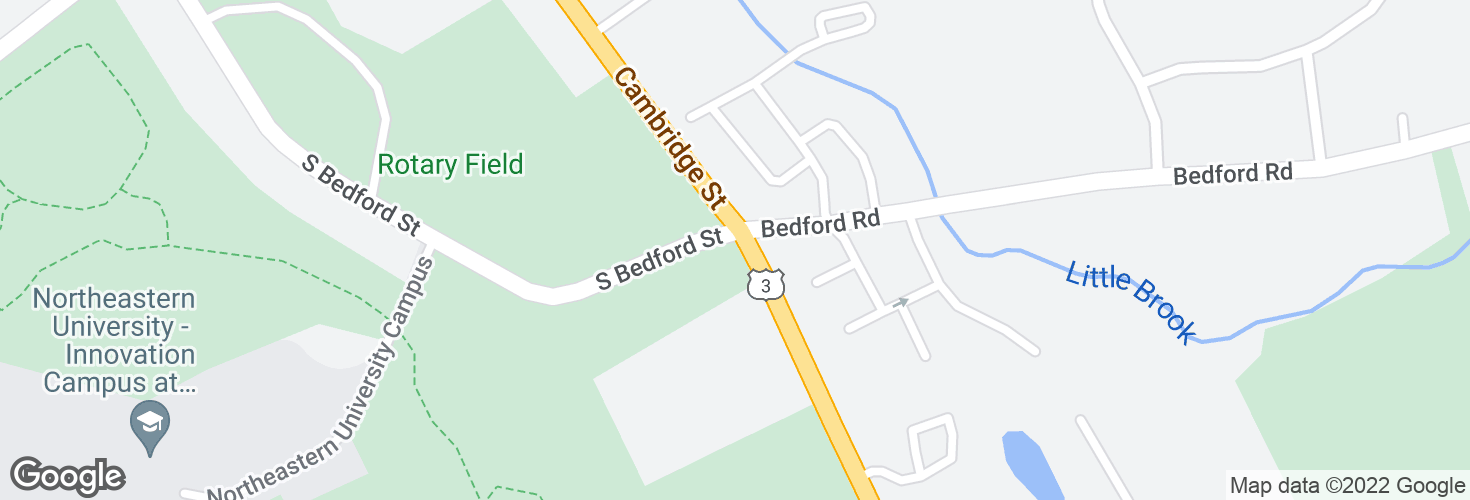 Map of Cambridge Rd @ S Bedford Rd and surrounding area