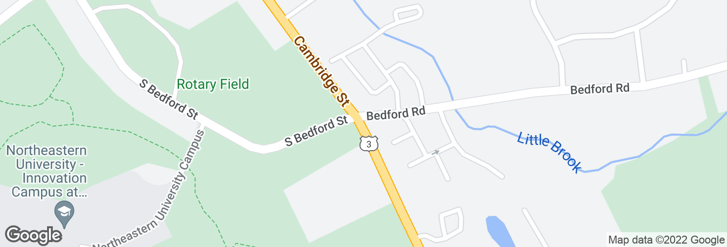 Map of Cambridge Rd @ Bedford Rd and surrounding area
