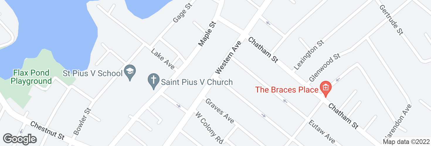 Map of Western Ave opp Tracey Ave and surrounding area