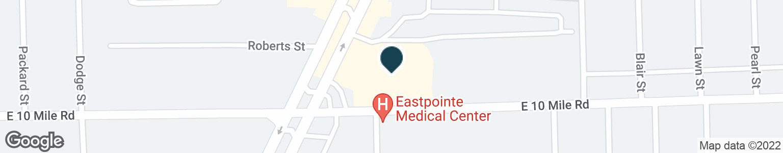 Google Map of25016 GRATIOT AVE