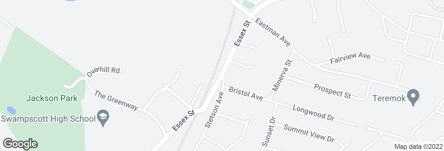 Map of Essex St @ Stetson Ave and surrounding area
