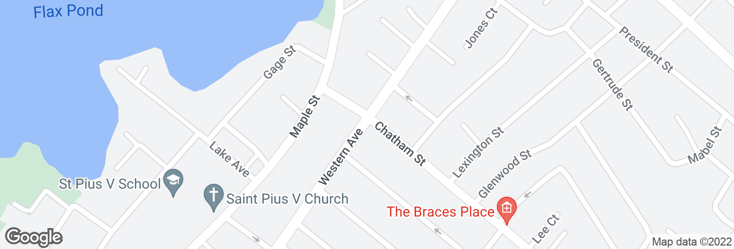 Map of Western Ave @ Chatham St and surrounding area
