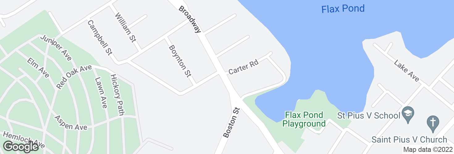 Map of Broadway @ Carter Rd and surrounding area